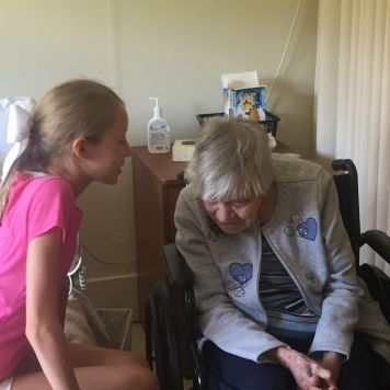 talking with great grandma